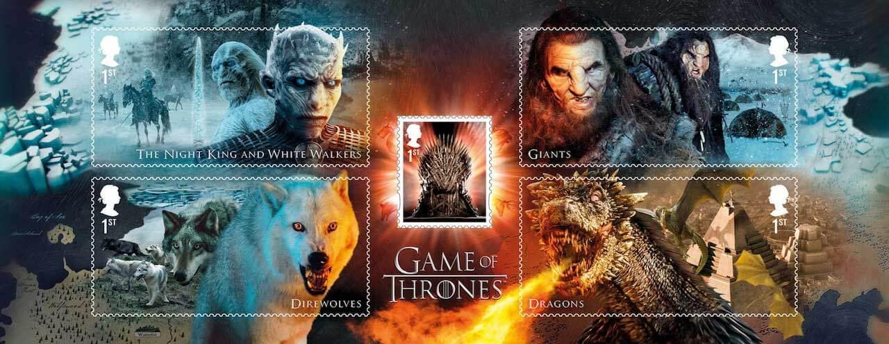 UK 2018 Game of Thrones stamp sheet