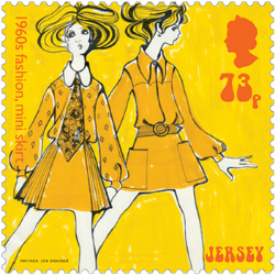 Jersey 2017 Popular Culture: The 1960s 73p fashion stamp