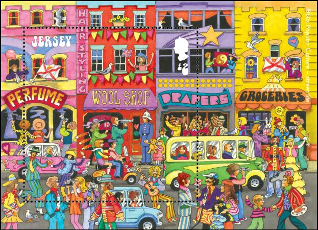 Jersey 2017 Popular Culture: The 1960s £2 miniature sheet