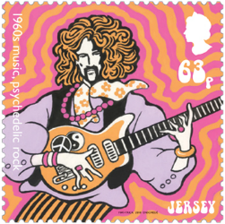 Jersey 2017 Popular Culture: The 1960s 63p music stamp