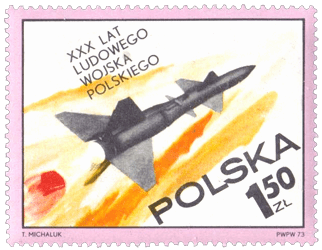 Poland 1973 30th Anniversary of Polish People's Army 1.50zl ground missile stamp
