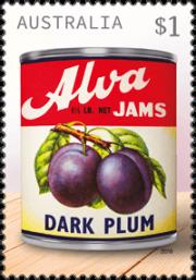 Australia 2018 Vintage Jam Labels $1 Alva stamp