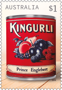 Australia 2018 Vintage Jam Labels $1 Kingurli stamp