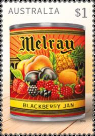 Australia 2018 Vintage Jam Labels $1 Melray stamp