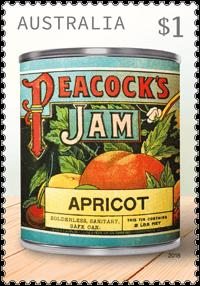 Australia 2018 Vintage Jam Labels $1 Peacock's stamp