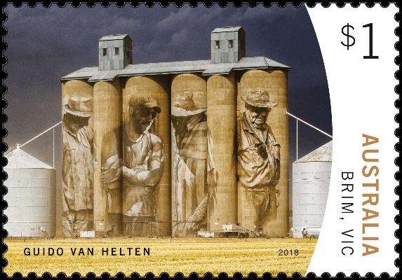 Australia 2018 Silo Art $1 Brim Guido van Helten stamp