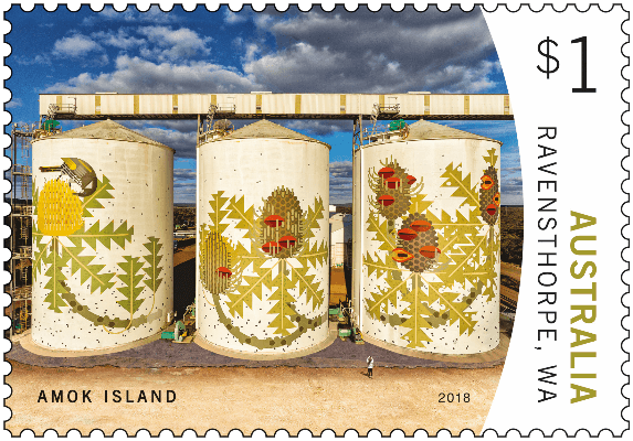 Australia 2018 Silo Art $1 Ravensthorpe Amok Island stamp
