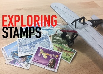 Exploring Stamps title board