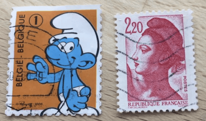 Marianne and the Smurf, Exploring Stamps
