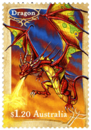 Australia 2011 Mythical Creatures $1.20 Dragon stamp
