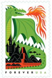USA 2018 Dragons Green Forever stamp