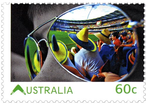 Australia 2011 Living Australian Cricket at the Gabba 60c stamp