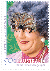 Australia 2006 Australian Legends - Dame Edna Everage 1982 50c stamp