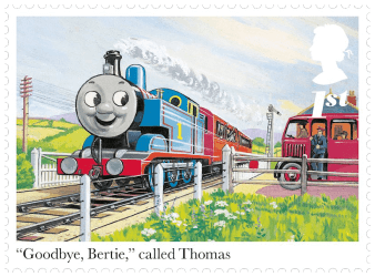 "UK 2011 Thomas the Tank Engine ""Goodbye, Bertie"" 1st class stamp"