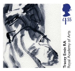 UK 2018 250 Years of the Royal Academy of Arts - Tracey Emin Saying Goodbye £1.55 stamp