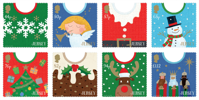 Jersey 2018 Christmas Jumpers stamp set