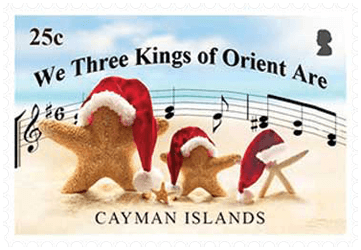 Cayman Islands 2018 Christmas Hymns 25c We Three Kings stamp