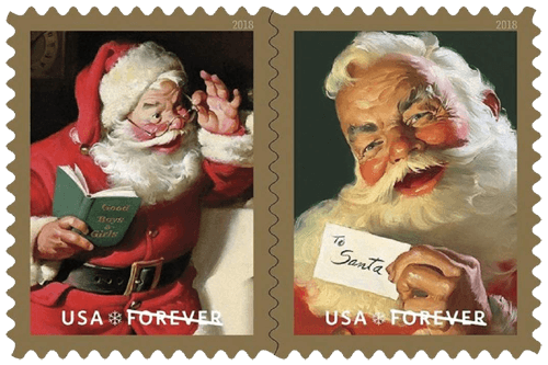 USA 2018 Sparkling Holidays stamps