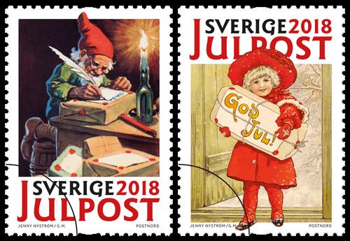 Sweden 2018 Jenny Nyström's Christmas stamps