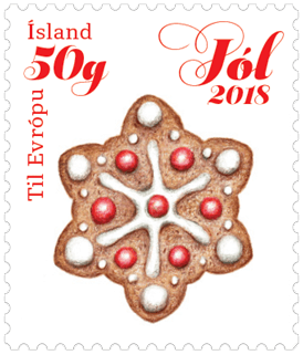 Iceland 2018 50g gingerbread scented stamp