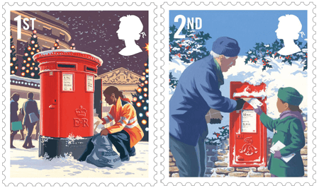 UK 2018 Christmas 1st & 2nd stamps
