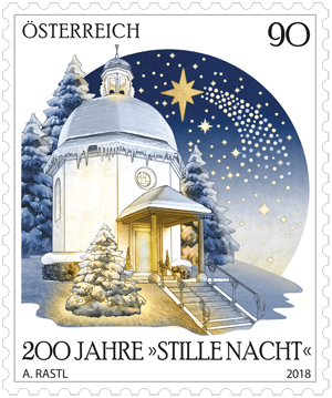 Austria 2018 200 Years of Silent Night 90c stamp