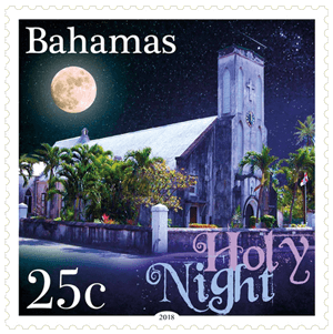 Bahamas 2018 200 Years of Silent Night 25c stamp