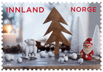 Norway 2018 Christmas Preparations inland stamp