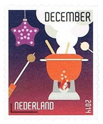 Netherlands 2014 December stamp fondue