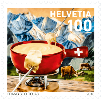 Switzerland 2018 Fondue CHF1 fondue caquelon