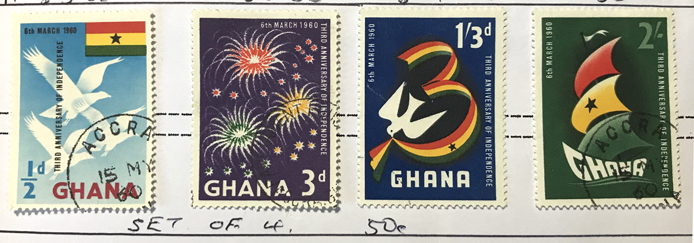 Ghana 1960 3rd Anniversary of Independence stamp set