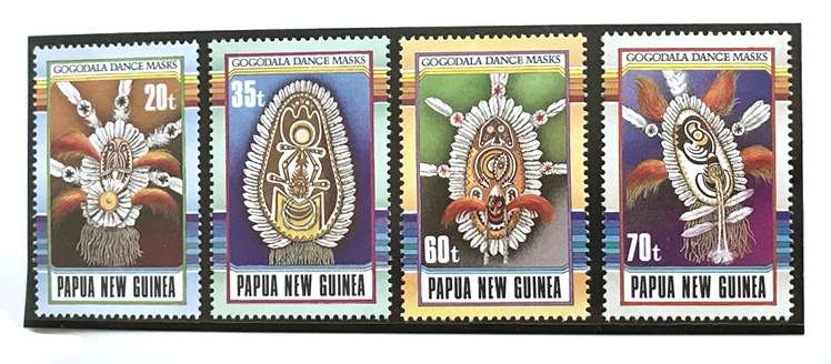 Papua New Guinea 1990 Gogodala Dance Masks stamp set