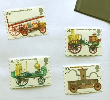 UK 1974 Bicentenary of Fire Prevention stamp set