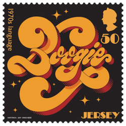 Jersey 2019 1970s Popular Culture 50p Language stamp