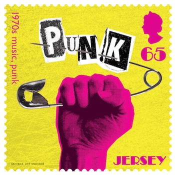 Jersey 2019 1970s Popular Culture 65p Music (punk) stamp