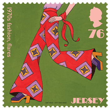 Jersey 2019 1970s Popular Culture 76p Fashion stamp
