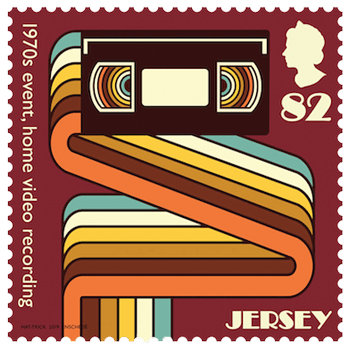 Jersey 2019 1970s Popular Culture 82p Events (home video recording) stamp