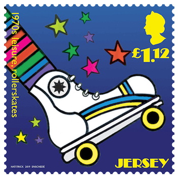 Jersey 2019 1970s Popular Culture £1.12 Leisure (roller skating) stamp