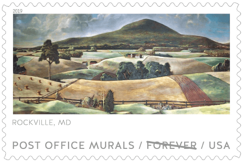 USA 2019 Post Office Murals Rockville MD stamp