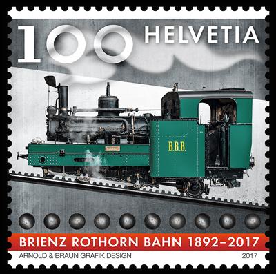 Switzerland 2017 150th Anniversary Brienz Rothorn Railway stamp