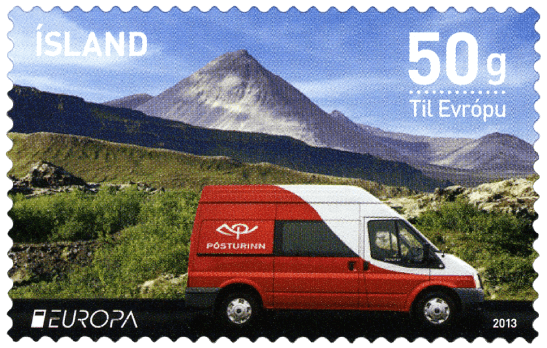 Iceland 2013 Europa Postal Vehicles - Ford Transit 350M