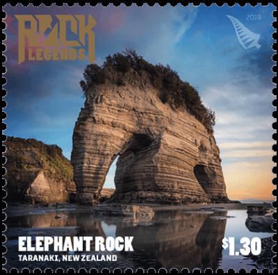 New Zealand 2019 Rock Legends Elephant Rock $1.30 stamp
