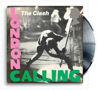 UK 2010 Classic Album Covers The Clash London Calling 1st stamp