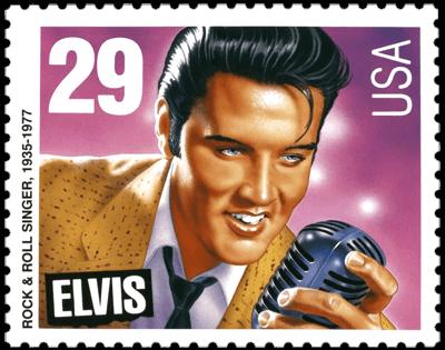 USA 1993 Legends of American Music Elvis Presly 29c stamp