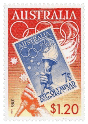 Australia 1999 $1.20 Olympic Torch stamp