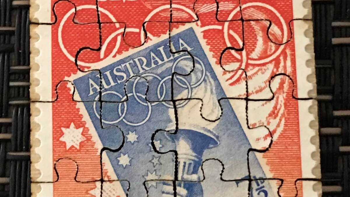 Punk Philatelist jigsaw stamp