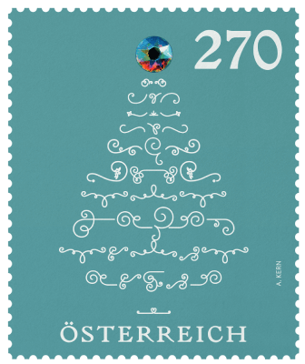 Austria 2019 €2.70 Christmas tree with crystal ornament stamp