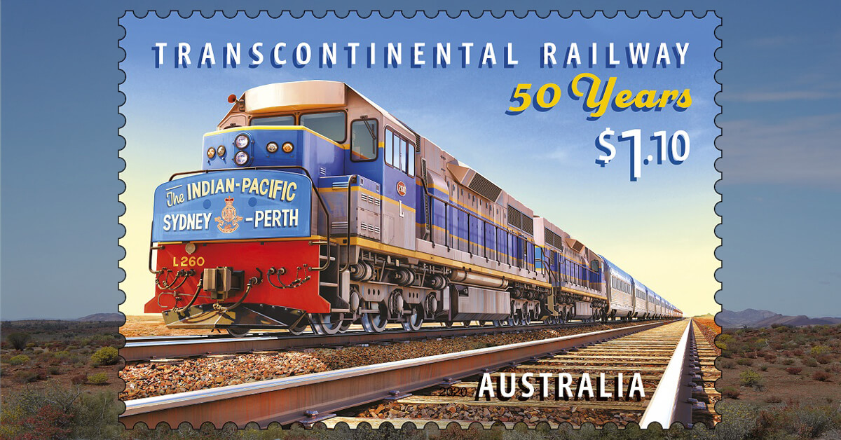 Punk Philatelist Australia 2020 Indian Pacific Transcontinental Railway 50th Anniversary