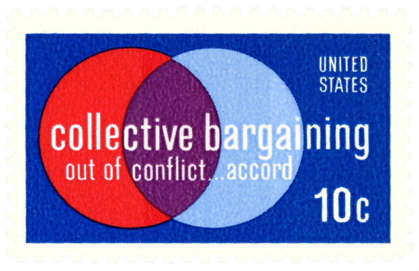 USA 1975 Collective Bargaining 10c stamp