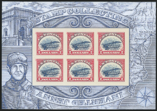 Siegel June 2020 Lot 224 USA 2013 non-inverted Jenny sheet